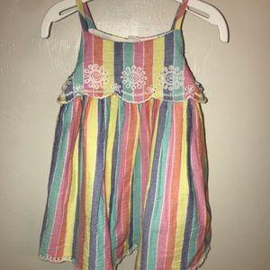 GAP Dresses - Gap Striped Eyelet Dress